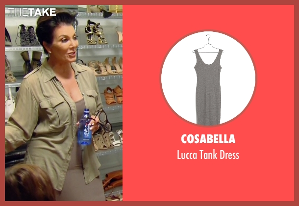 Cosabella gray dress from Keeping Up With The Kardashians seen with Kris Jenner