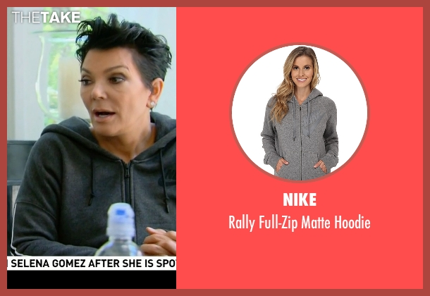 Nike gray hoodie from Keeping Up With The Kardashians seen with Kris Jenner