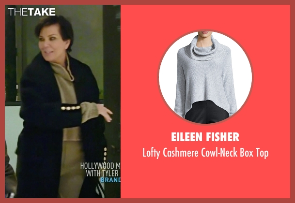 Eileen Fisher gray top from Keeping Up With The Kardashians seen with Kris Jenner