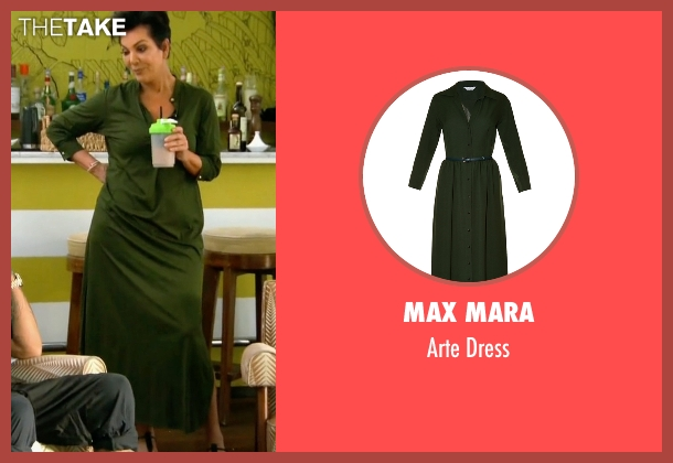 Max Mara green dress from Keeping Up With The Kardashians seen with Kris Jenner