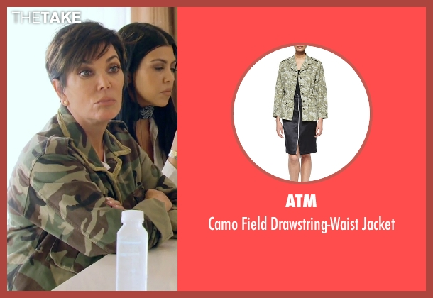 ATM	 green jacket from Keeping Up With The Kardashians seen with Kris Jenner