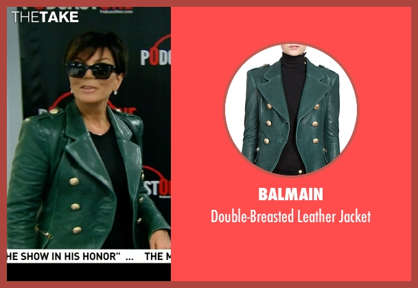 Balmain green jacket from Keeping Up With The Kardashians seen with Kris Jenner