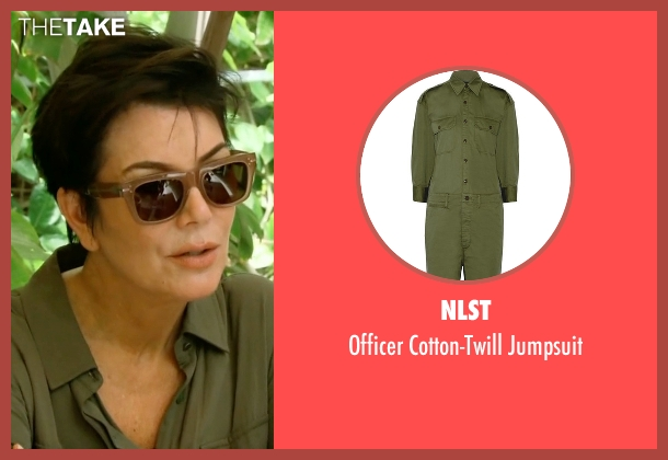 Nlst green jumpsuit from Keeping Up With The Kardashians seen with Kris Jenner