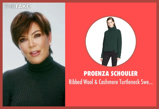 Proenza Schouler green sweater from Keeping Up With The Kardashians seen with Kris Jenner