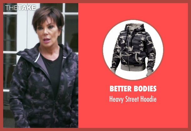 Better Bodies hoodie from Keeping Up With The Kardashians seen with Kris Jenner