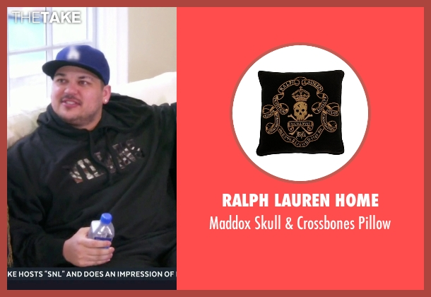 Ralph Lauren Home pillow from Keeping Up With The Kardashians seen with Kris Jenner