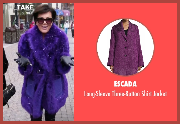 Escada purple jacket from Keeping Up With The Kardashians seen with Kris Jenner