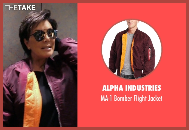 Alpha Industries red jacket from Keeping Up With The Kardashians seen with Kris Jenner