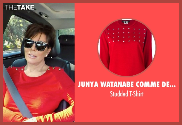 Junya Watanabe Comme Des Garçons red t-shirt from Keeping Up With The Kardashians seen with Kris Jenner