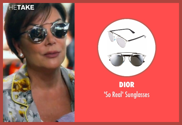 Dior silver sunglasses from Keeping Up With The Kardashians seen with Kris Jenner