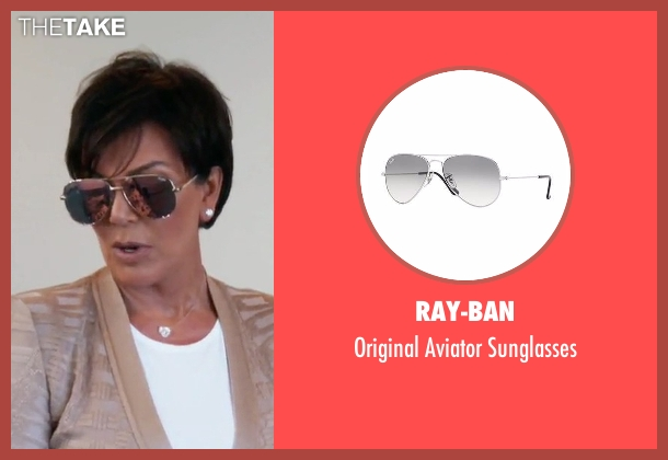Ray-Ban silver sunglasses from Keeping Up With The Kardashians seen with Kris Jenner