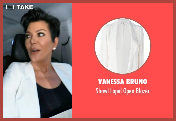 Vanessa Bruno white blazer from Keeping Up With The Kardashians seen with Kris Jenner