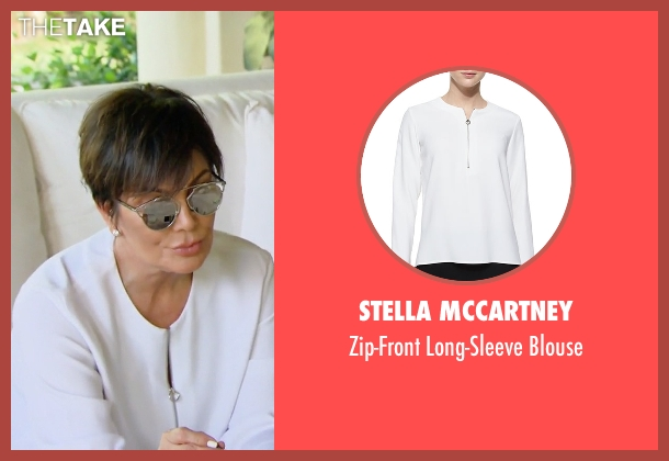 Stella Mccartney white blouse from Keeping Up With The Kardashians seen with Kris Jenner