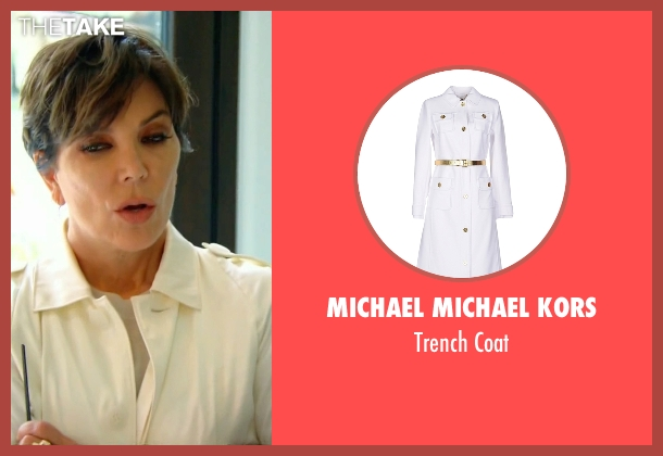 Michael Michael Kors white coat from Keeping Up With The Kardashians seen with Kris Jenner