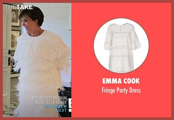 Emma Cook white dress from Keeping Up With The Kardashians seen with Kris Jenner