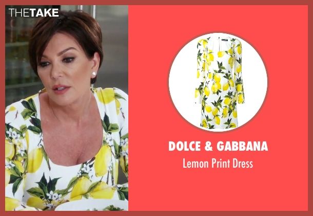 Dolce & Gabbana white dress from Keeping Up With The Kardashians seen with Kris Jenner