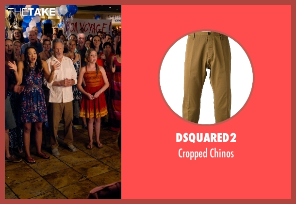 Dsquared2 brown chinos from Dolphin Tale 2 seen with Kris Kristofferson (Reed Haskett)