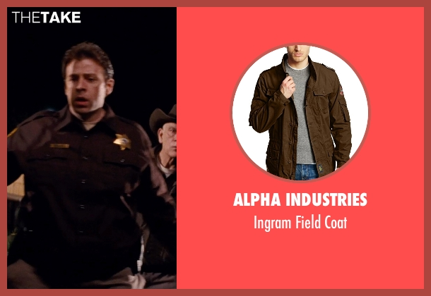 Alpha Industries brown coat from Cut Bank seen with Kris Loranger (Deputy)