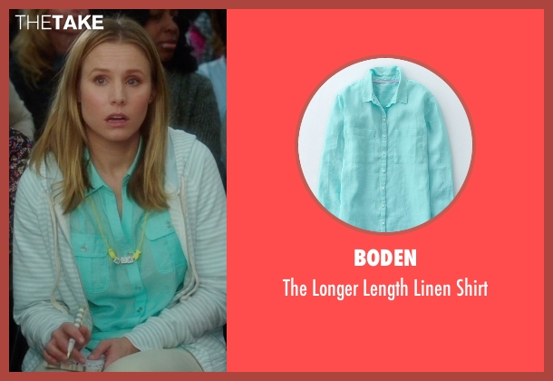 Boden blue shirt from Bad Moms seen with Kristen Bell (Kiki)