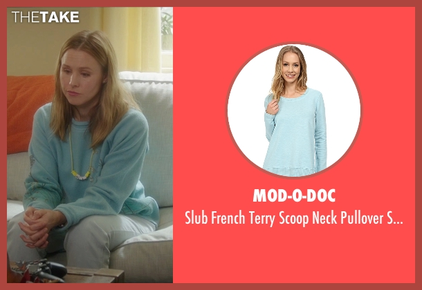 Mod-O-Doc blue sweater from Bad Moms seen with Kristen Bell (Kiki)