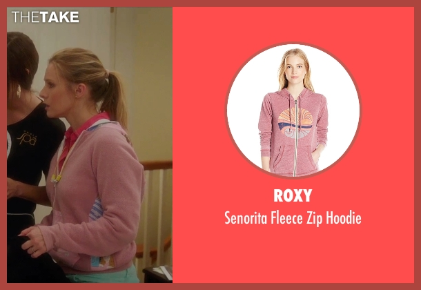 Roxy  pink hoodie from Bad Moms seen with Kristen Bell (Kiki)
