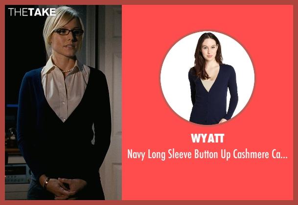 Wyatt blue cardigan from Couple's Retreat seen with Kristen Bell (Cynthia)