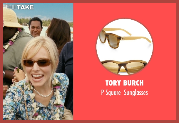 Tory Burch brown sunglasses from Couple's Retreat seen with Kristen Bell (Cynthia)