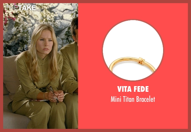 Vita Fede gold bracelet from Couple's Retreat seen with Kristen Bell (Cynthia)