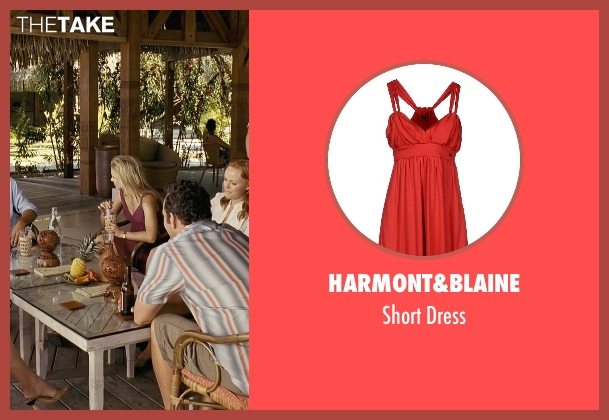 Harmont&blaine red dress from Couple's Retreat seen with Kristen Bell (Cynthia)