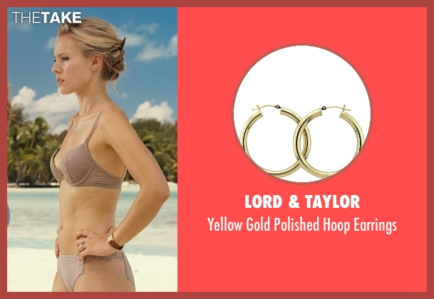 Lord & Taylor yellow earrings from Couple's Retreat seen with Kristen Bell (Cynthia)