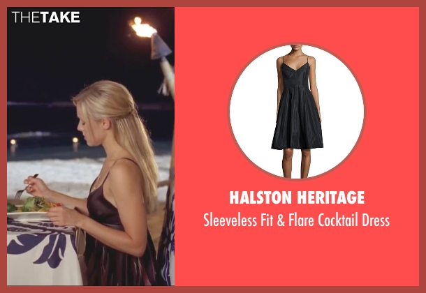 Halston Heritage black dress from Forgetting Sarah Marshall seen with Kristen Bell (Sarah Marshall)