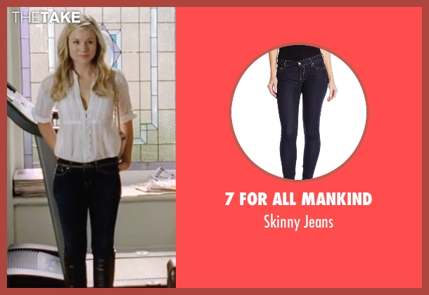 7 For All Mankind blue jeans from Forgetting Sarah Marshall seen with Kristen Bell (Sarah Marshall)