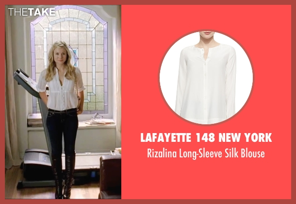 Lafayette 148 New York white blouse from Forgetting Sarah Marshall seen with Kristen Bell (Sarah Marshall)