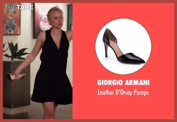Giorgio Armani black pumps from The Good Place seen with Eleanor Shellstrop (Kristen Bell)