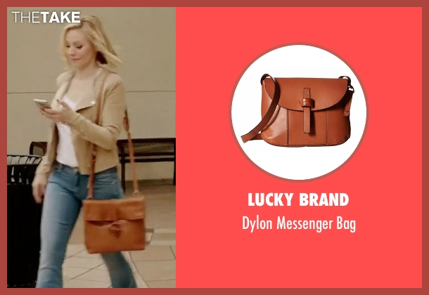 Lucky Brand brown bag from The Good Place seen with Eleanor Shellstrop (Kristen Bell)