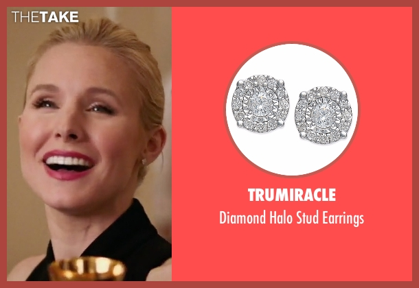 Trumiracle silver earrings from The Good Place seen with Eleanor Shellstrop (Kristen Bell)
