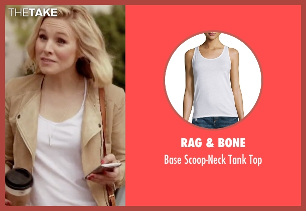 Rag & Bone white top from The Good Place seen with Eleanor Shellstrop (Kristen Bell)