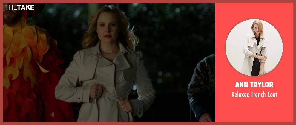 Ann Taylor beige coat from The Boss seen with Kristen Bell (Claire)