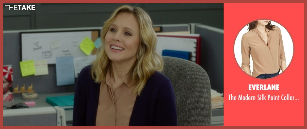 Everlane beige shirt from The Boss seen with Kristen Bell (Claire)