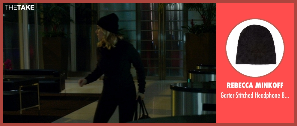 Rebecca Minkoff black hat from The Boss seen with Kristen Bell (Claire)