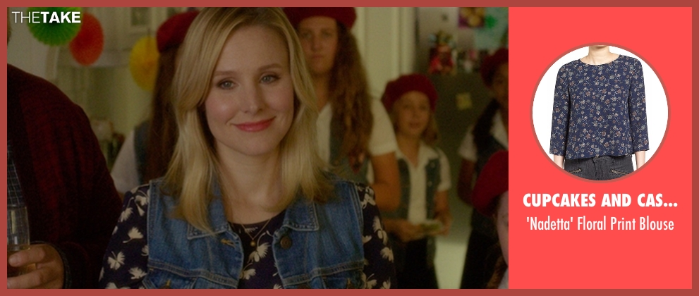 Cupcakes And Cashmere blue blouse from The Boss seen with Kristen Bell (Claire)