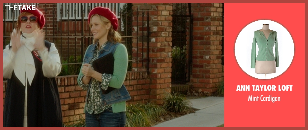 Ann Taylor LOFT cardigan from The Boss seen with Kristen Bell (Claire)
