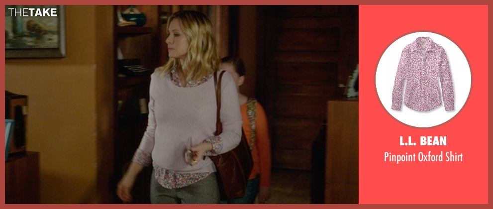 L.L. Bean pink shirt from The Boss seen with Kristen Bell (Claire)