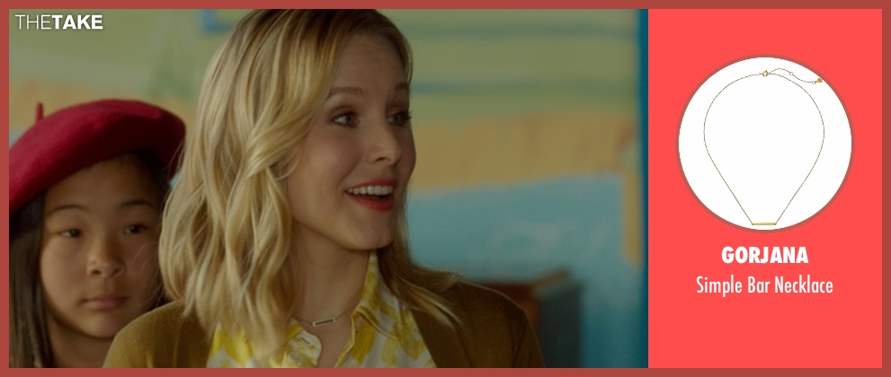 Gorjana gold necklace from The Boss seen with Kristen Bell (Claire)