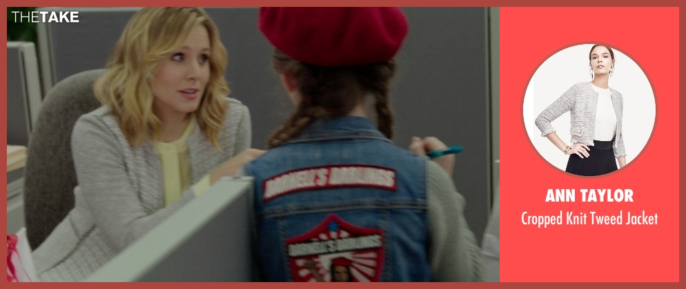Ann Taylor gray jacket from The Boss seen with Kristen Bell (Claire)