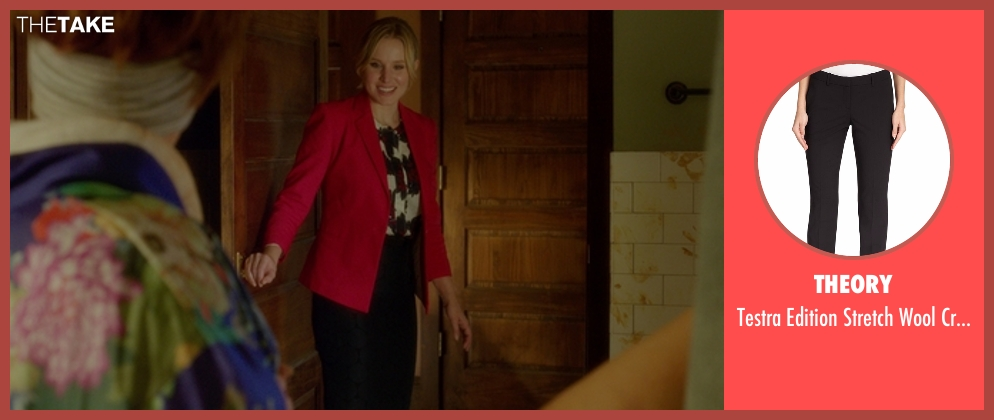 Theory pants from The Boss seen with Kristen Bell (Claire)