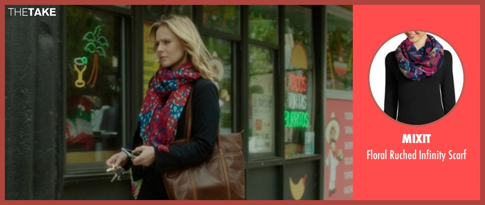 Mixit scarf from The Boss seen with Kristen Bell (Claire)