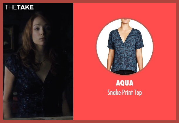 Aqua black top from Cabin in the Woods seen with Kristen Connolly (Dana)