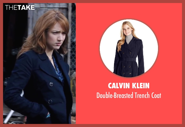 Calvin Klein blue coat from Cabin in the Woods seen with Kristen Connolly (Dana)