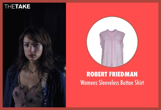 Robert Friedman pink shirt from Cabin in the Woods seen with Kristen Connolly (Dana)